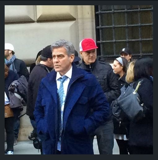 George Clooney on Money Monster Set April 10th & 11th  2015 Jj710