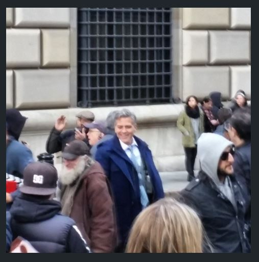 George Clooney on Money Monster Set April 10th & 11th  2015 Jj810