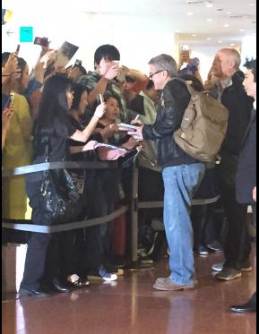 George Clooney arrived in Tokyo Japan May 24, 2015 Jj811