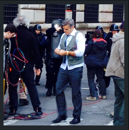 George Clooney on Money Monster Set April 10th & 11th  2015 Jj910