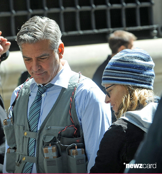 George Clooney on Money Monster Set April 10th & 11th  2015 Kk1110