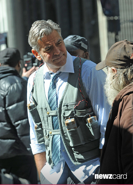 George Clooney on Money Monster Set April 10th & 11th  2015 Kk1210