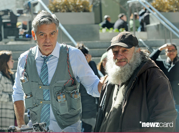 George Clooney on Money Monster Set April 10th & 11th  2015 Kk1310