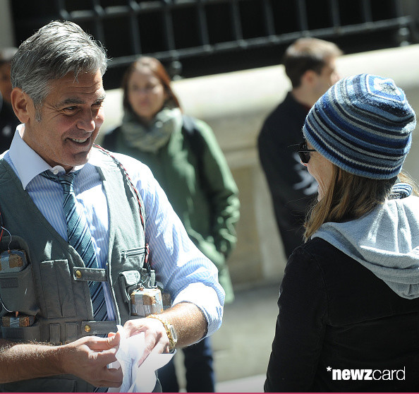 George Clooney on Money Monster Set April 10th & 11th  2015 Kk1410