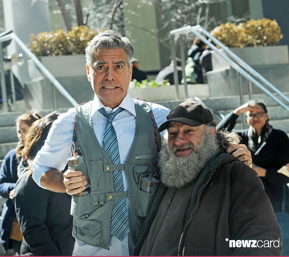 George Clooney on Money Monster Set April 10th & 11th  2015 Kk1610