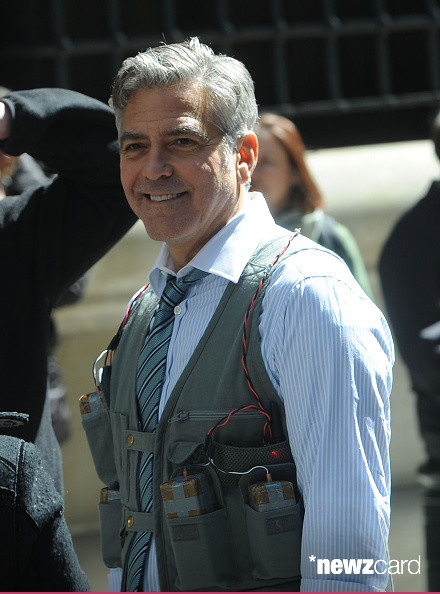 George Clooney on Money Monster Set April 10th & 11th  2015 Kk1710