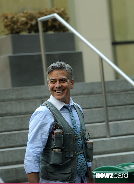 George Clooney on Money Monster Set April 10th & 11th  2015 Kk1810