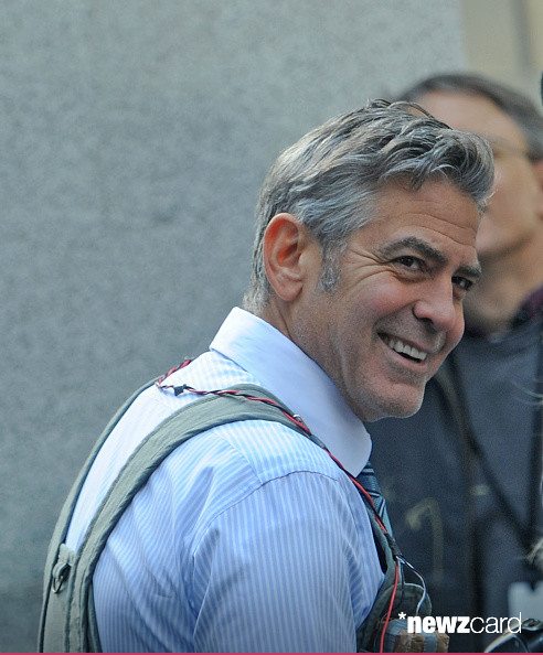 George Clooney on Money Monster Set April 10th & 11th  2015 Kk2010