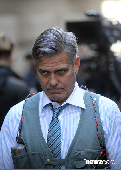 George Clooney on Money Monster Set April 10th & 11th  2015 Kk210
