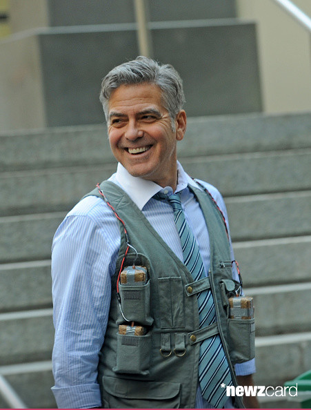 George Clooney on Money Monster Set April 10th & 11th  2015 Kk2110