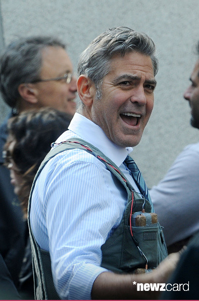George Clooney on Money Monster Set April 10th & 11th  2015 Kk2210