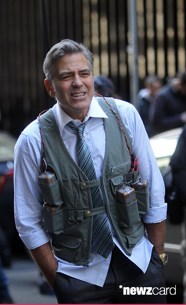 George Clooney on Money Monster Set April 10th & 11th  2015 Kk310