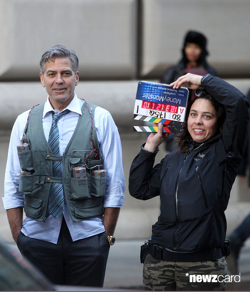 George Clooney on Money Monster Set April 10th & 11th  2015 Kk610