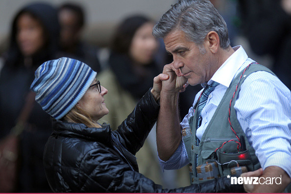 George Clooney on Money Monster Set April 10th & 11th  2015 Kk710