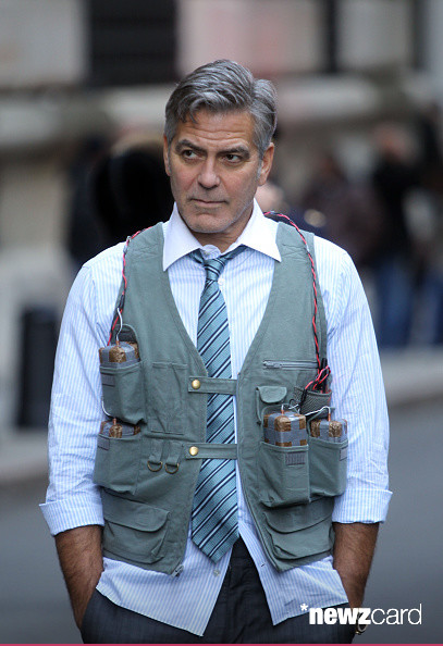 George Clooney on Money Monster Set April 10th & 11th  2015 Kk810