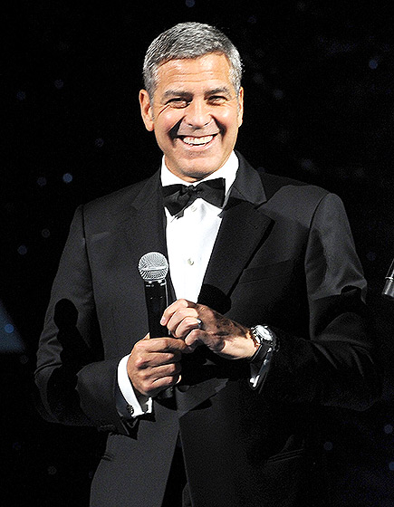 George Clooney  at Omega Event in Texas Mi10