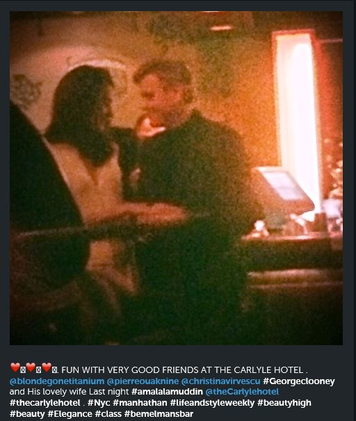 George and Amal Spotted at Carlyle Hotel 3/21/15 Nnnnn10