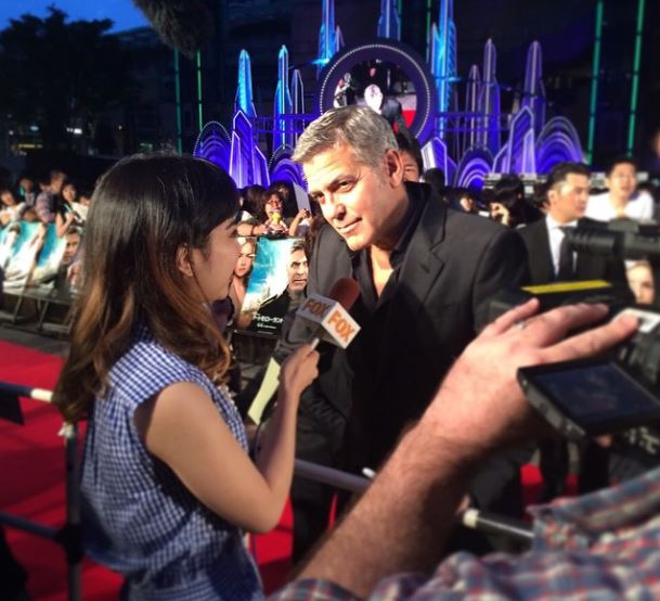 George Clooney at the Tokyo Tomorrowland Premiere 25th May 2015 - Page 2 Oo13