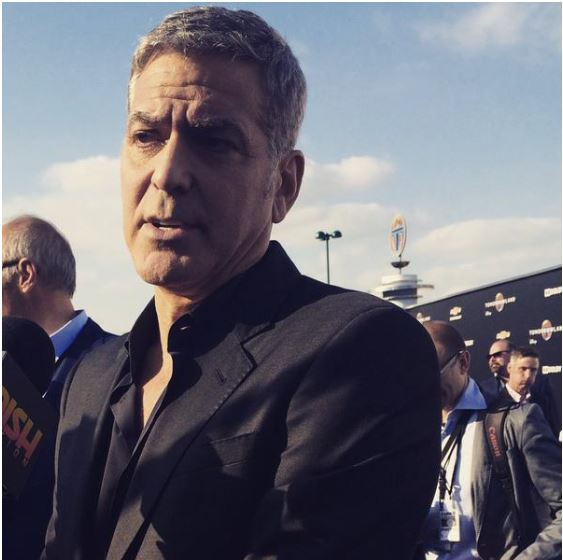George Clooney at the TOMORROWLAND world premiere in LA Disneyland 9th May 2015 Ooo10