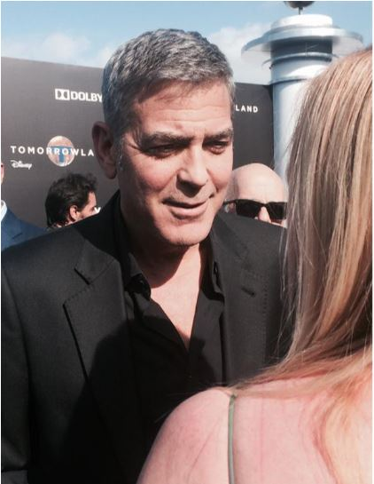 George Clooney at the TOMORROWLAND world premiere in LA Disneyland 9th May 2015 Ooo1410