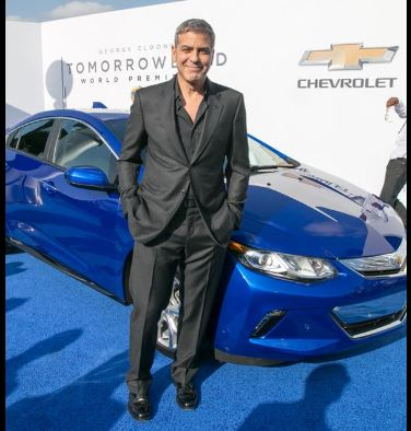 George Clooney at the TOMORROWLAND world premiere in LA Disneyland 9th May 2015 Ooo1610