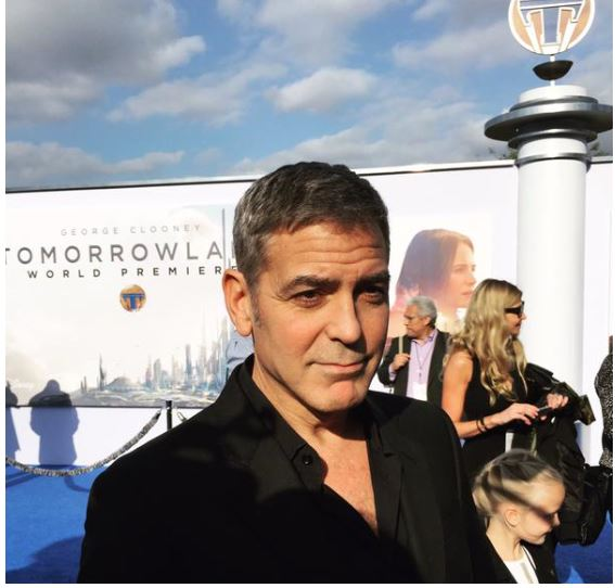 George Clooney at the TOMORROWLAND world premiere in LA Disneyland 9th May 2015 Ooo210