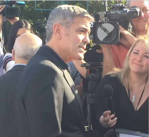 George Clooney at the TOMORROWLAND world premiere in LA Disneyland 9th May 2015 Ooo310