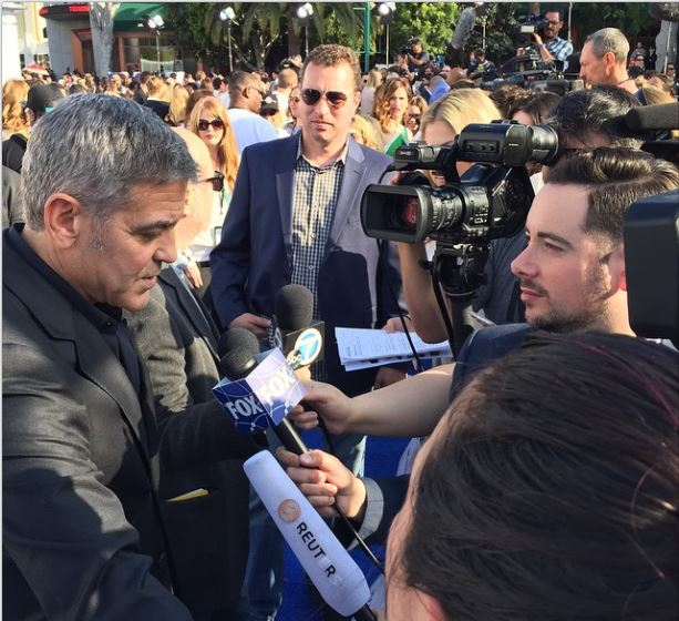 George Clooney at the TOMORROWLAND world premiere in LA Disneyland 9th May 2015 Ooo510