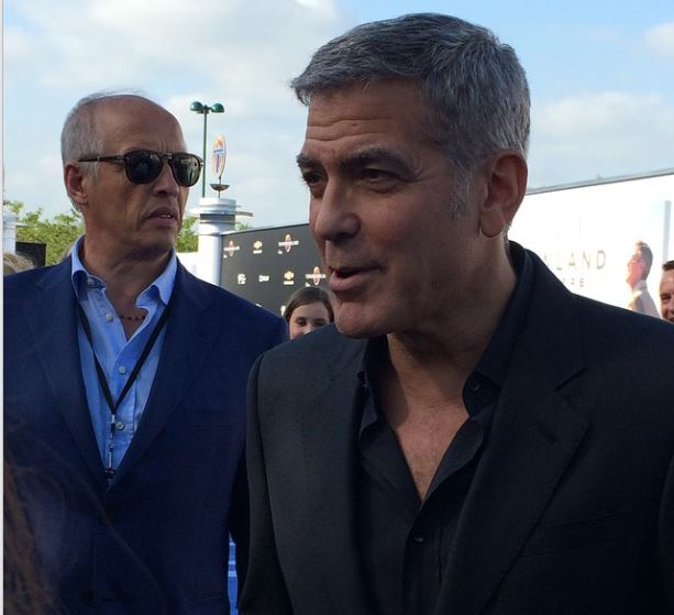 George Clooney at the TOMORROWLAND world premiere in LA Disneyland 9th May 2015 Ooo610