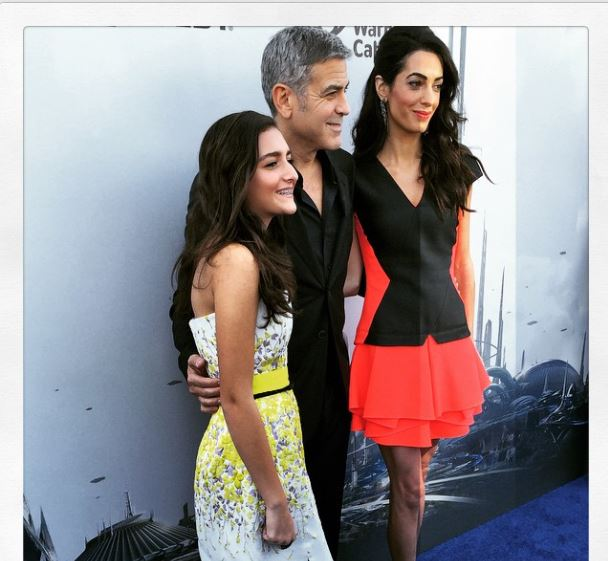 George Clooney at the TOMORROWLAND world premiere in LA Disneyland 9th May 2015 Ooo810