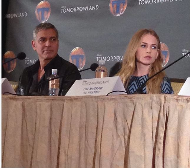 George Clooney at the press conference of TOMORROWLAND 8th May 2015 Press510