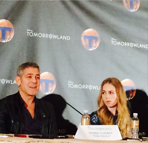 George Clooney at the press conference of TOMORROWLAND 8th May 2015 Press710