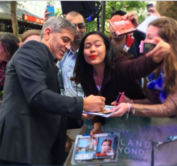 George Clooney at the Tomorrowland Premiere in London 17. May 2015 Sel410
