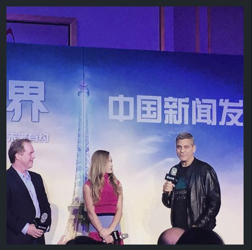 George Clooney in Shanghai Tomorrowland Premier 22. May 2015 Ss211