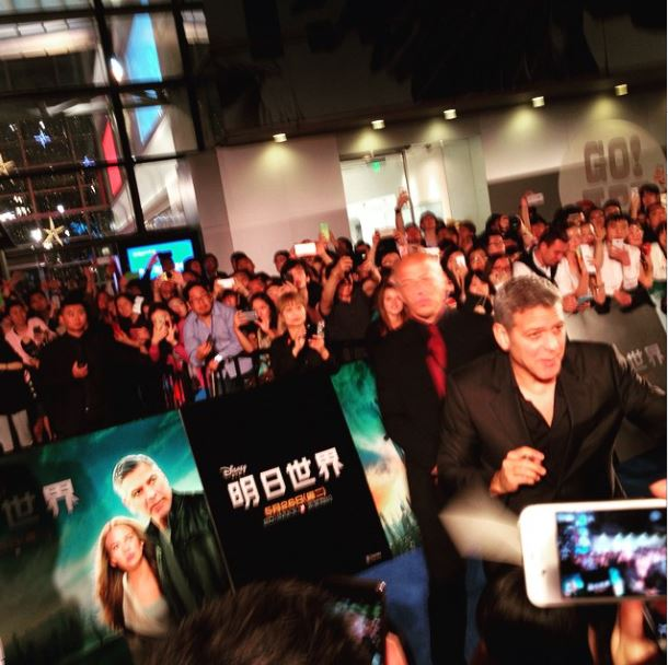 George Clooney in Shanghai Tomorrowland Premier 22. May 2015 Ss710