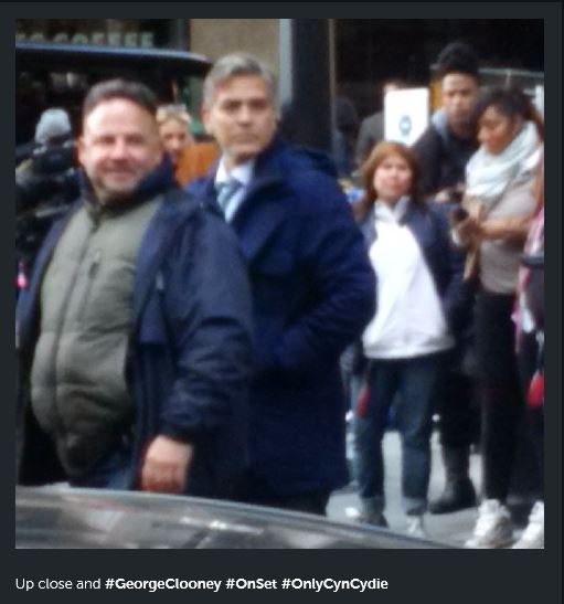 George Clooney on Money Monster Set April 10th & 11th  2015 Sss10