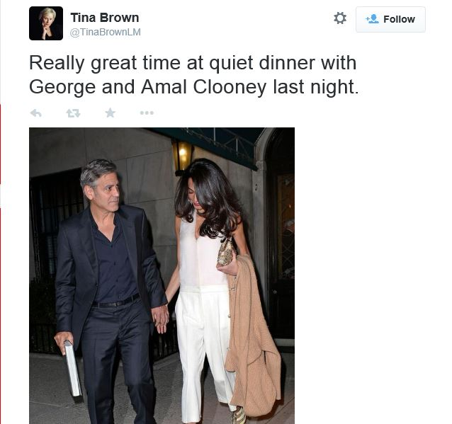 George Clooney & Amal seen in New York City on March 27 Tina10