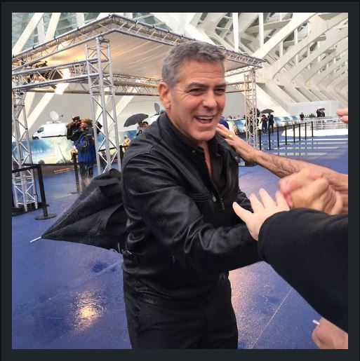 George at Valencia premiere of Tomorrowland May 19,  2015 Tt12