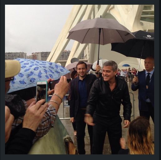George at Valencia premiere of Tomorrowland May 19,  2015 Tt310