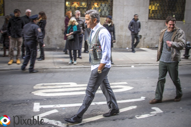 George Clooney Walking Around New York City In A Suicide Vest While Filming 'Money Monster' Friday, 24th April 2015 Xxx10