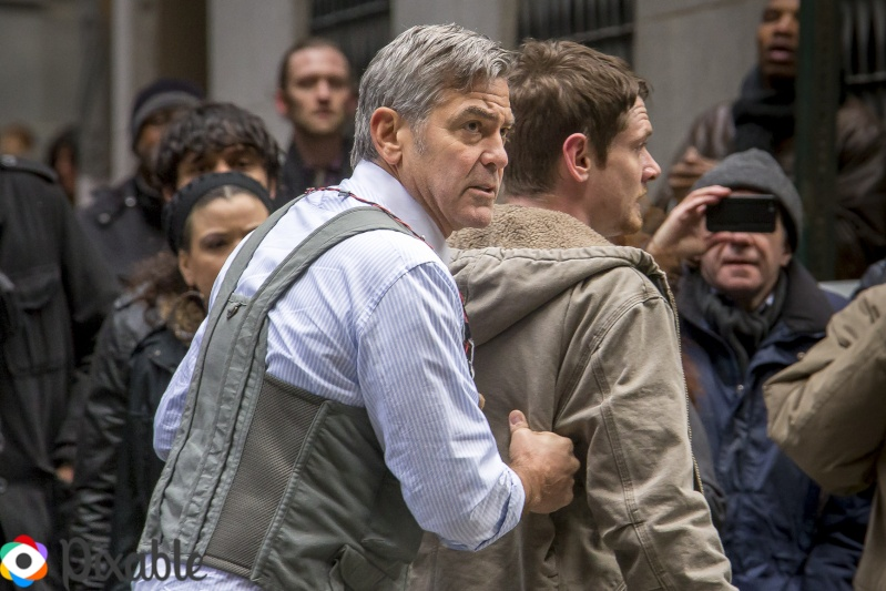 George Clooney Walking Around New York City In A Suicide Vest While Filming 'Money Monster' Friday, 24th April 2015 Xxx1010