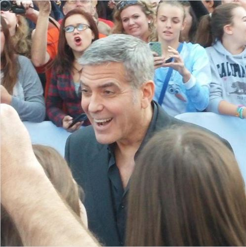 George Clooney at the TOMORROWLAND world premiere in LA Disneyland 9th May 2015 Yyy10