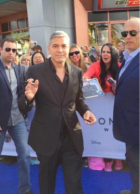 George Clooney at the TOMORROWLAND world premiere in LA Disneyland 9th May 2015 Yyy210