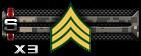 Sergeant Sp x3