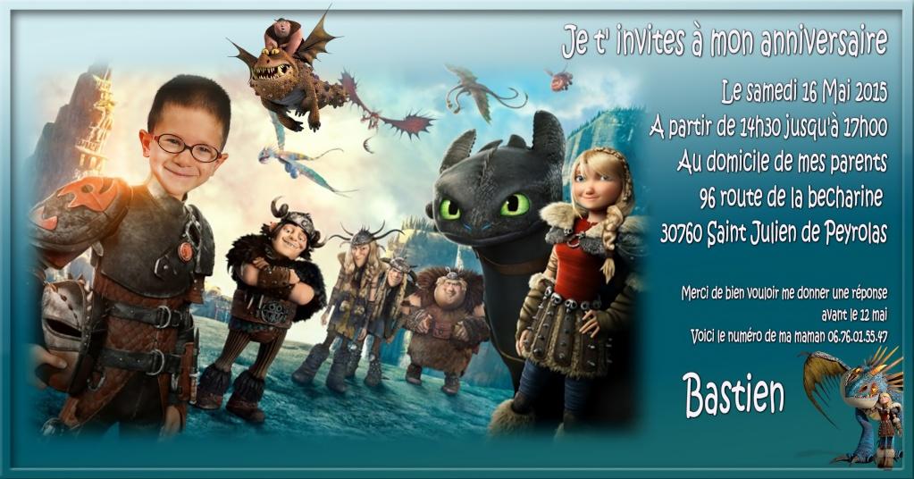 invitation anniversaire  Dragon10