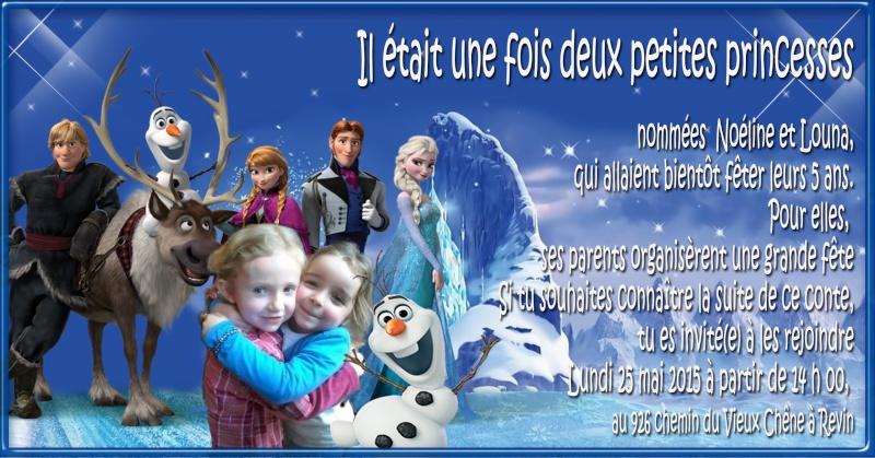 Invitation anniversaire reine des neiges Essais10