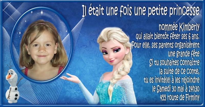 invitation anniversaire reine des neiges Essais11
