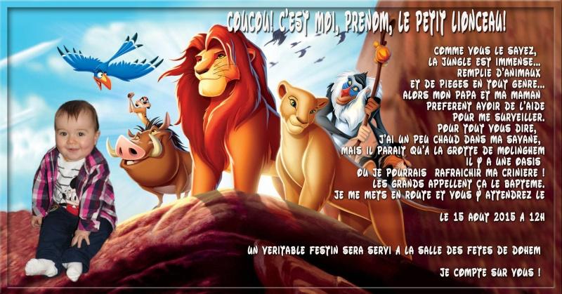 demande de faire part bapteme roi lion Sans_t50