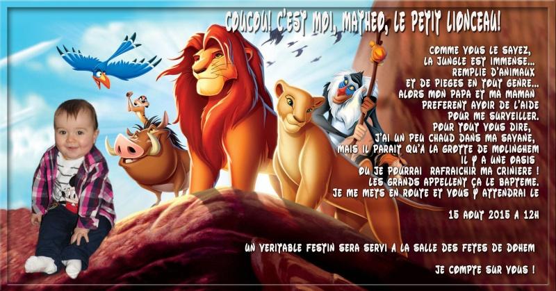demande de faire part bapteme roi lion Sans_t53