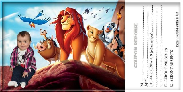 demande de faire part bapteme roi lion Sans_t55
